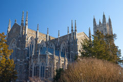 Duke Chapel. Back and side view of Duke Chapel, Duke University, Durham, North Carolina Stock Photos
