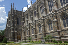 Duke Chapel. The Duke Chapel is located at the center of the west campus Stock Images