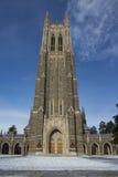Duke Chapel nell'inverno Fotografie Stock Libere da Diritti