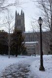 Duke Chapel nell'inverno Fotografia Stock Libera da Diritti