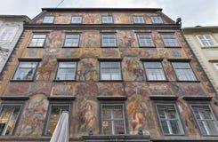 Duke court building in downtown on Herrengasse street. Graz, Austria stock images