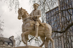 Duke of Cumberland Statue, London. Reproduction of the monument to William, Duke of Cumberland (1721 - 1765) originally erected in 1770.  Public statue on Royalty Free Stock Photos
