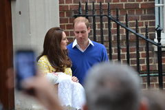 Prince William Kate princess Charlotte Royalty Free Stock Photography