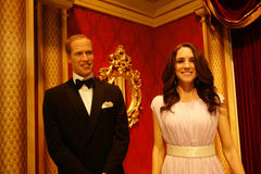 Duke and Duchess of Cambridge Wax Figures royalty free stock photography