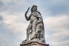 Duke Eberhard Ludwig in Ludwigsburg, Germany. Statue of young Duke Eberhard Ludwig of Wurttemberg at Market Square (Marktplatz) in Ludwigsburg, Germany stock photo