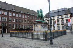 Duke Johann Wilhelm monument. In front of the townhall in Dusseldorf, Germany Stock Photography