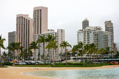 Duke Kahanamoku laguna, Waikiki Fotografia Royalty Free