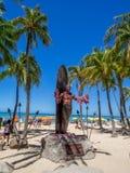 Duke Kahanamoku Statue auf Waikiki-Strand Lizenzfreie Stockfotografie