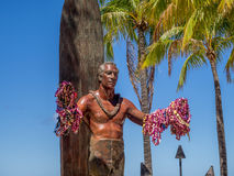 Duke Kahanamoku Statue on Waikiki Beach Royalty Free Stock Photography