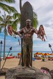 Duke Kahanamoku statue, Waikiki Stock Photography