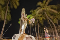 Duke paoa kahanamoku statue in waikiki hawaii Royalty Free Stock Photos