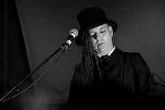 Duke Special. Bellurgan Park,County Louth,Ireland,4th May 2014,Duke Special plays live at Vantasival music Festival,Bellurgan,County Louth on May 4th 2014 Royalty Free Stock Images