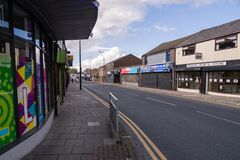 Duke street in St Helens Merseyside