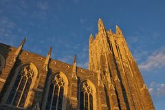 Duke University Chapel Fotografia Stock
