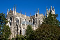 Duke University Chapel Stock Foto's