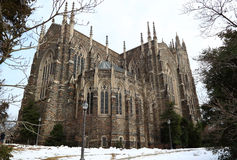 Duke University Chapel. The top private university in North Carolina, United States Stock Photography