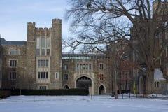 Duke University i vintern Arkivbild