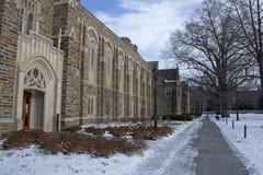 Duke University i vintern Fotografering för Bildbyråer