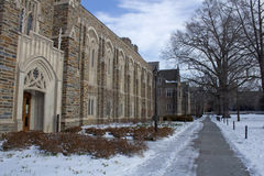 Duke University nell'inverno Immagine Stock