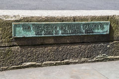 Duke of Wellington Horse Block in London Stock Image