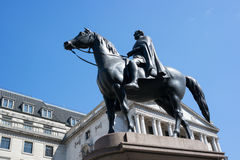 Duke of Wellington Statue. Against a blue sky, London, England, UK Stock Images