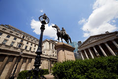 Duke Of Wellington Statue, Bank Station, London, UK Stock Image
