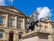 Duke of Wellington Statue in Edinburgh royalty free stock image