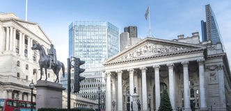 Duke of Wellington Statue and Historic Buildings, London, UK Stock Photos