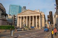 Duke Wellington-Statue und königlicher Austausch in der Stadt von London Stockfoto