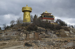 Dukezong老镇在香格里拉 库存照片