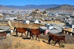 Dukezong Ancient Town Stock Photo