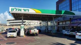 Dukhifat加油站在里雄莱锡安 库存图片