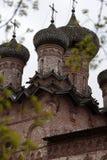 Dukhov修道院-一个正统修道院在Veliky诺夫哥罗德,是 免版税库存照片