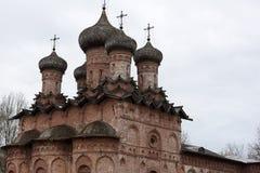 Dukhov修道院-一个正统修道院在Veliky诺夫哥罗德,是 库存图片