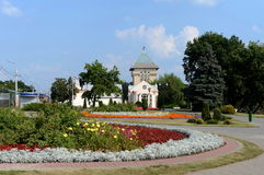 Dukhovskoy kruglik och mässhallen av museum`en Vitebsk centrerar för samtida konst`, arkivbilder