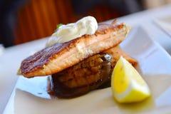 Dukkah crusted salmon Stock Photography