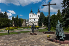 Dukla, Poland - July 20, 2016: Monument and Shrine of St. John o. F Dukla in Poland, Bernardine monastery fathers stock image