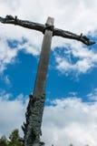 Dukla, Polonia - 22 luglio 2016: Riconciliazione trasversale intrecciata ha Fotografie Stock Libere da Diritti