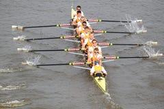 Dukla Praga ocho jóvenes - 100a raza del rowing de Primatorky Imagenes de archivo