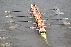 Dukla Prague eight juniors - 100th Primatorky rowing race Stock Images