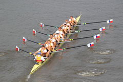 Dukla Prague eight - rowing competition Stock Image