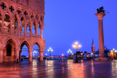 Duks palace on st. Marks square in Venice Italy Stock Images