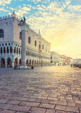 Duks palace on st. Marks square in Venice Stock Image