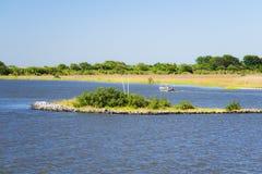 Dulac Louisiana flodarm Fotografering för Bildbyråer