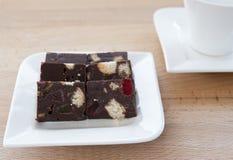 Dulce de azúcar de chocolate Fotografía de archivo