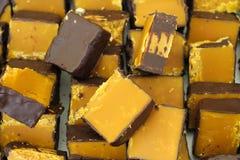 Dulce de azúcar del jengibre cubierto en chocolate Imagenes de archivo