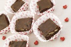 Dulce de azúcar hecho en casa de la tarjeta del día de San Valentín Fotos de archivo libres de regalías