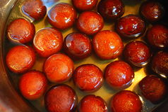 Dulce de Gulab Jamun Imágenes de archivo libres de regalías