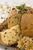 Dulce de la Navidad. Panettone. Imagen de archivo libre de regalías