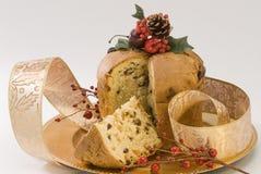 Dulce de la Navidad. Panettone. Foto de archivo libre de regalías